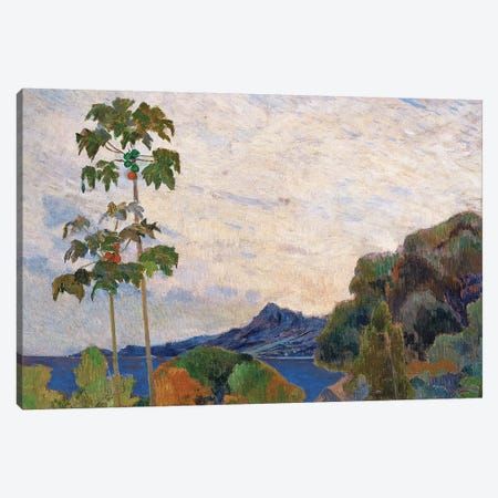 Martinique Landscape, 1887   3-Piece Canvas #BMN3984} by Paul Gauguin Canvas Print