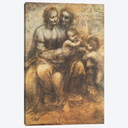 The Virgin and Child with Saint Anne, and the Infant Saint John the Baptist, c.1499-1500  Canvas Print #BMN3985} by Leonardo da Vinci Canvas Art Print