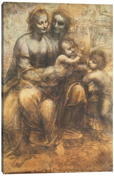 The Virgin and Child with Saint Anne, and the Infant Saint John the Baptist, c.1499-1500  Canvas Art Print
