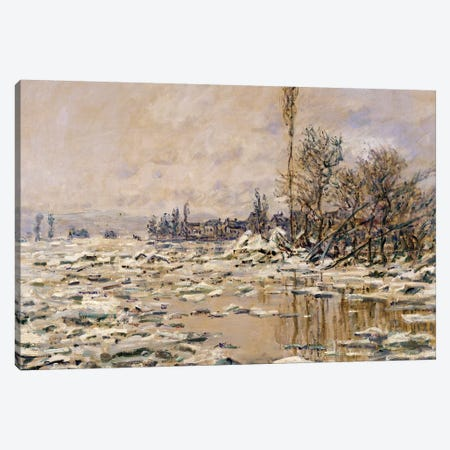 The Break-up of the Ice, 1880  Canvas Print #BMN3988} by Claude Monet Canvas Artwork