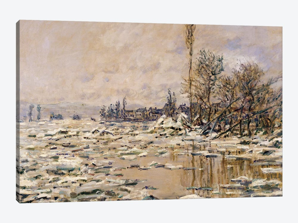The Break-up of the Ice, 1880  by Claude Monet 1-piece Canvas Art Print