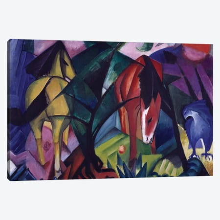 Horse and eagle, 1912, by Franz Marc  Canvas Print #BMN3989} by Unknown Artist Canvas Art
