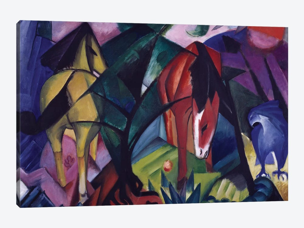 Horse and eagle, 1912, by Franz Marc  by Unknown Artist 1-piece Canvas Art