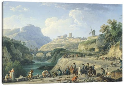 The Construction of a Road, 1774   Canvas Art Print