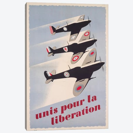 Propaganda poster for liberation from World War II Canvas Print #BMN3991} by Unknown Artist Canvas Print