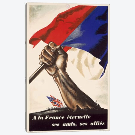 Poster for Liberation of France from World War II, 1944 Canvas Print #BMN3993} by Unknown Artist Canvas Art Print
