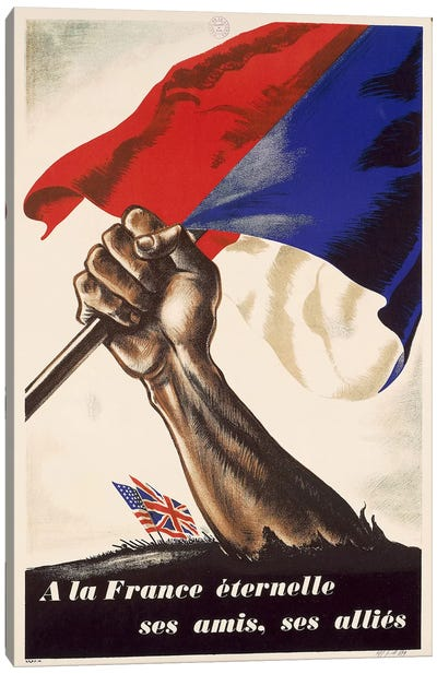 Poster for Liberation of France from World War II, 1944 Canvas Art Print