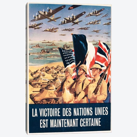 French propaganda poster published in Algeria, from World War II, 1943 Canvas Print #BMN3994} by Unknown Artist Canvas Wall Art