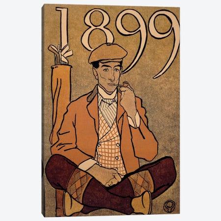 Golf Calendar, by Edward Penfield, poster, 1899 Canvas Print #BMN3995} by Unknown Artist Canvas Artwork