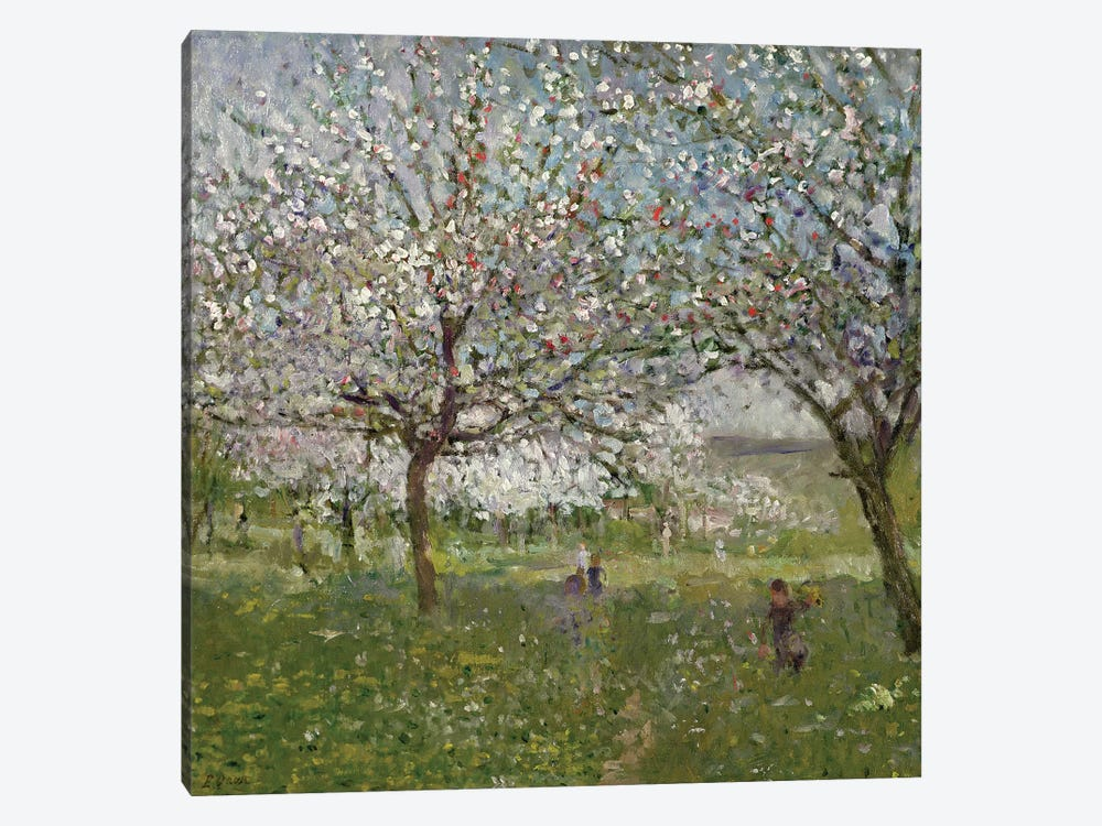 Apple Trees in Flower by Ernest Quost 1-piece Canvas Print