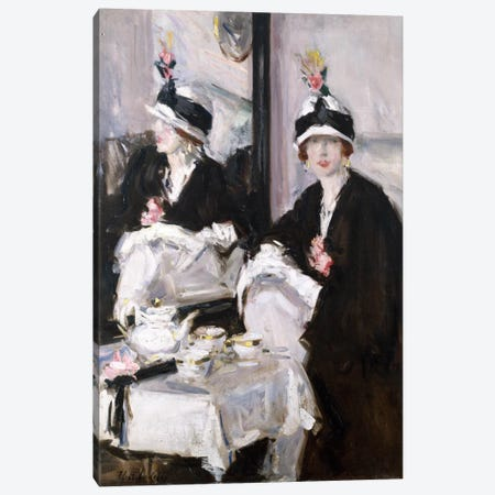 Reflections (oil on canvas) Canvas Print #BMN39} by Francis Campbell Boileau Cadell Art Print