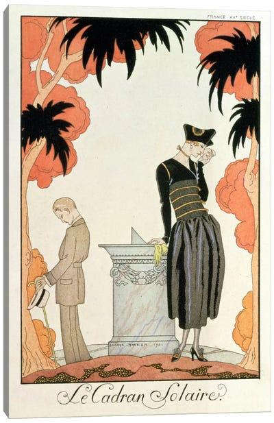 Falbalas et fanfreluches, Almanach des Modes, fashions for 1921 (pochoir print) Canvas Art Print