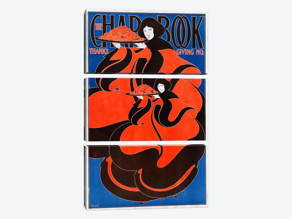 The Chap Book: Thanksgiving no.', 1895. Will H Bradley  by Unknown Artist 3-piece Canvas Wall Art