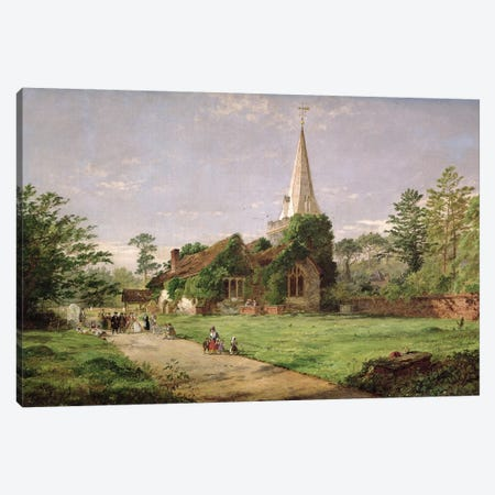 Stoke Poges Church  Canvas Print #BMN400} by Jasper Francis Cropsey Canvas Art