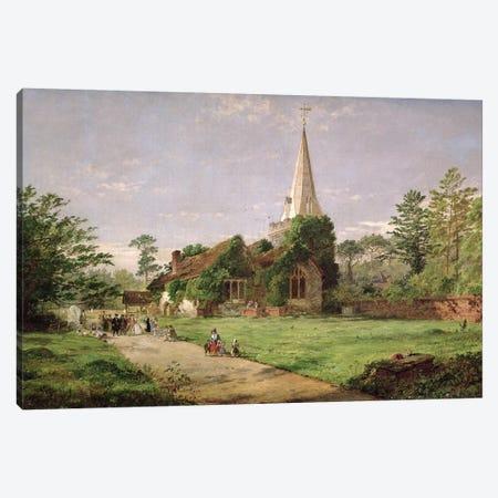 Stoke Poges Church  Canvas Print #BMN400} by Jasper Francis Cropsey Canvas Art