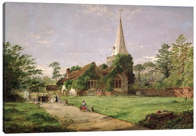 Stoke Poges Church  Canvas Art Print