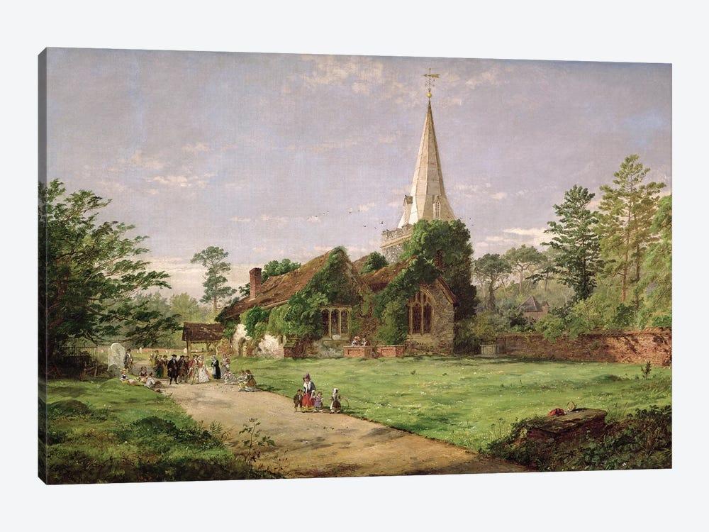 Stoke Poges Church  by Jasper Francis Cropsey 1-piece Canvas Artwork