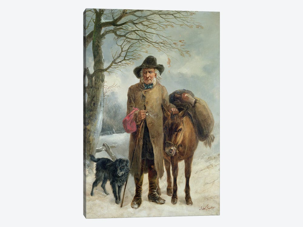 Gathering winter fuel  by John Barker 1-piece Canvas Artwork