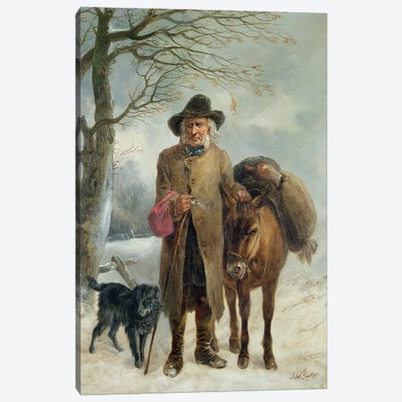 Gathering winter fuel  Canvas Print #BMN402} by John Barker Canvas Art
