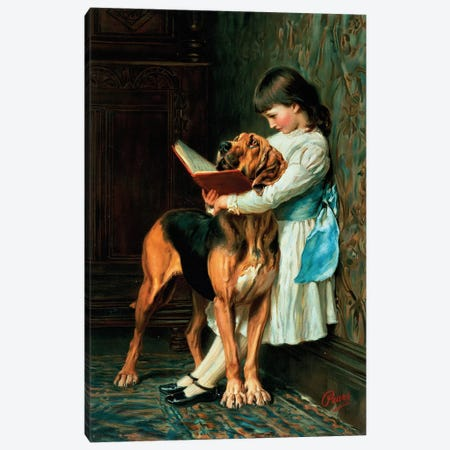Naughty Boy or Compulsory Education Canvas Print #BMN403} by Briton Riviere Canvas Artwork