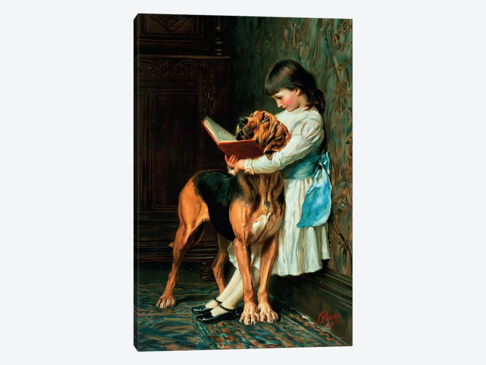 Naughty Boy or Compulsory Education by Briton Riviere 1-piece Art Print