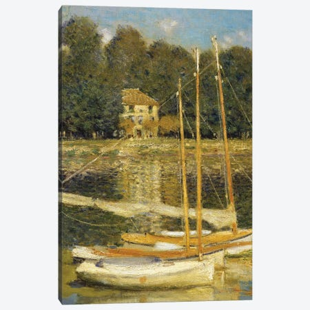 The Bridge at Argenteuil, 1874  Canvas Print #BMN4043} by Claude Monet Canvas Wall Art