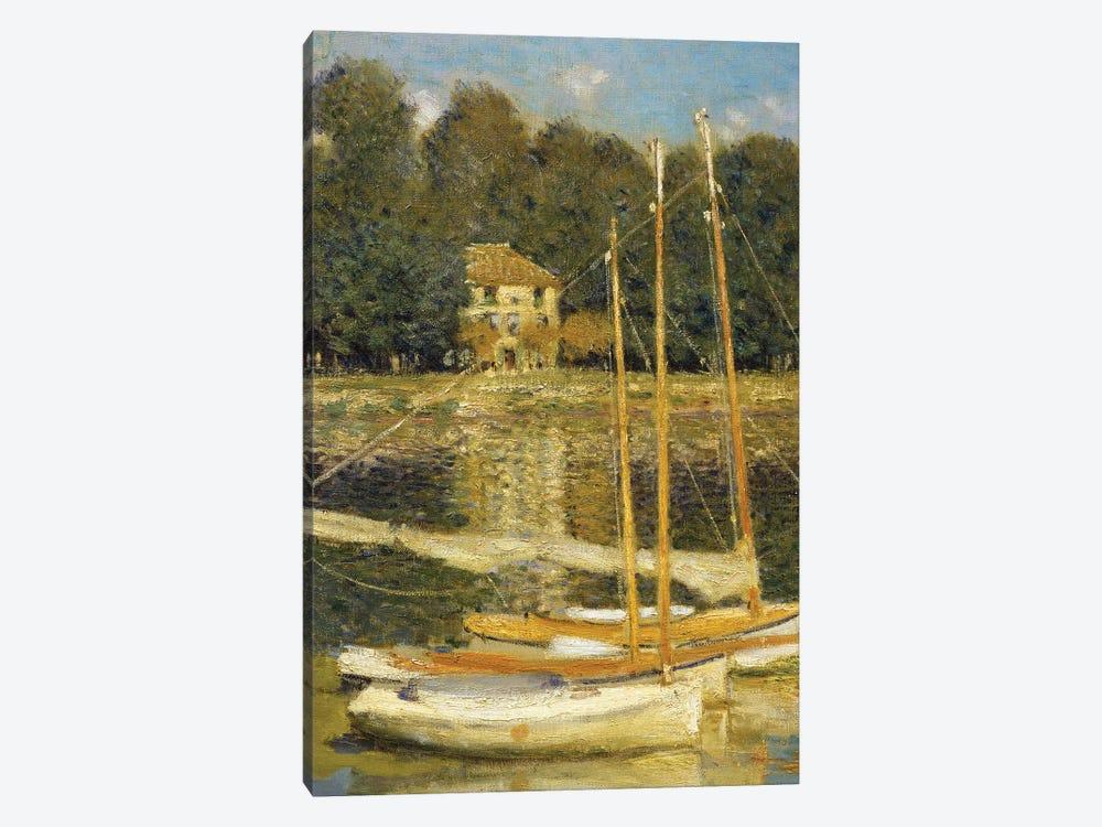 The Bridge at Argenteuil, 1874  by Claude Monet 1-piece Canvas Art