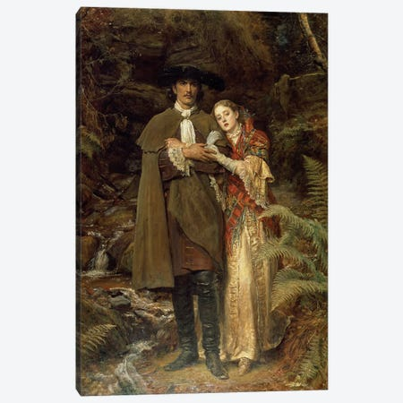 The Bride of Lammermoor, 1878  Canvas Print #BMN405} by Sir John Everett Millais Canvas Art Print