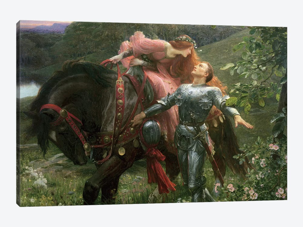 La Belle Dame Sans Merci, exh.1902  by Sir Frank Dicksee 1-piece Canvas Art