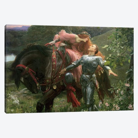 La Belle Dame Sans Merci, exh.1902  Canvas Print #BMN406} by Sir Frank Dicksee Canvas Print