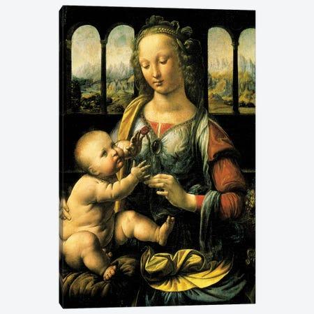 Virgin and Child, c.1473  Canvas Print #BMN4071} by Leonardo da Vinci Canvas Art Print