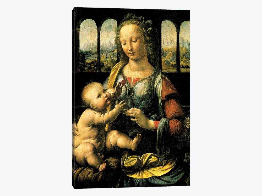 Virgin and Child, c.1473  by Leonardo da Vinci 1-piece Art Print