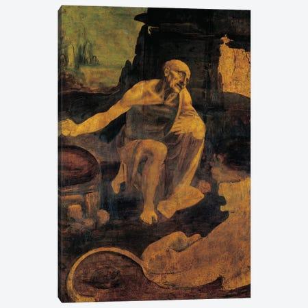 St. Jerome, c.1480-82  Canvas Print #BMN4072} by Leonardo da Vinci Art Print