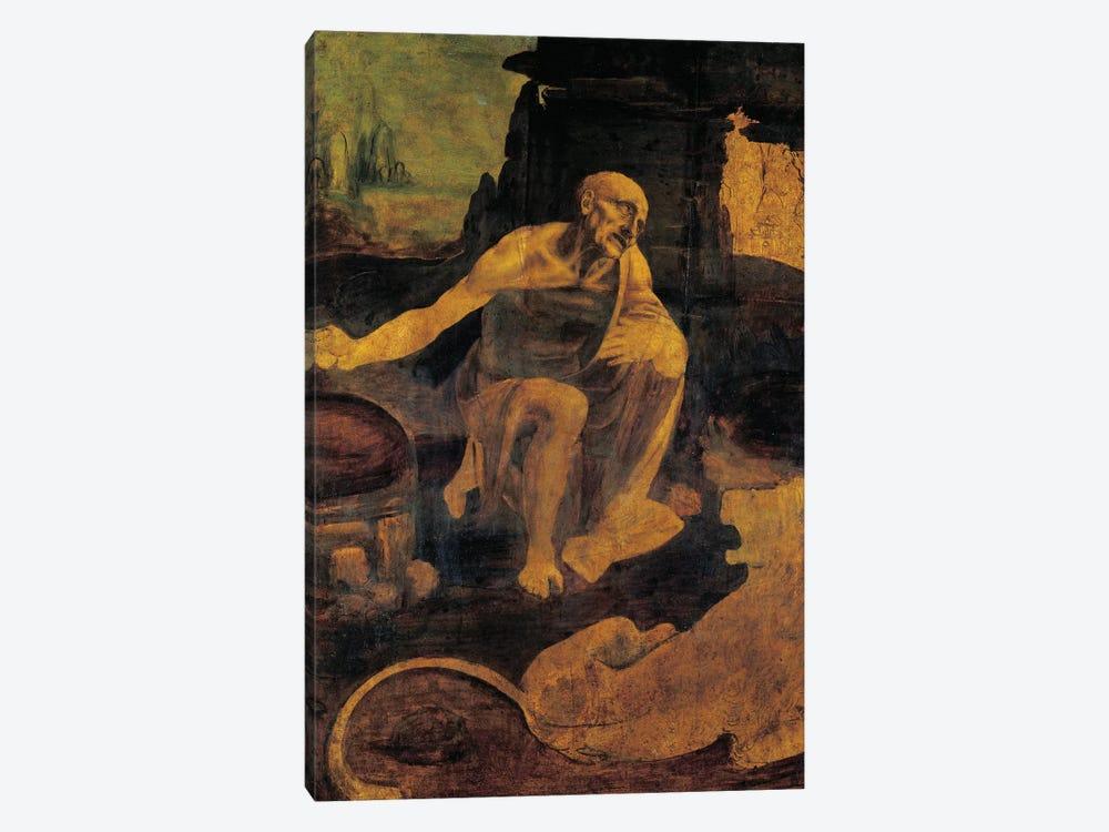 St. Jerome, c.1480-82  by Leonardo da Vinci 1-piece Canvas Wall Art