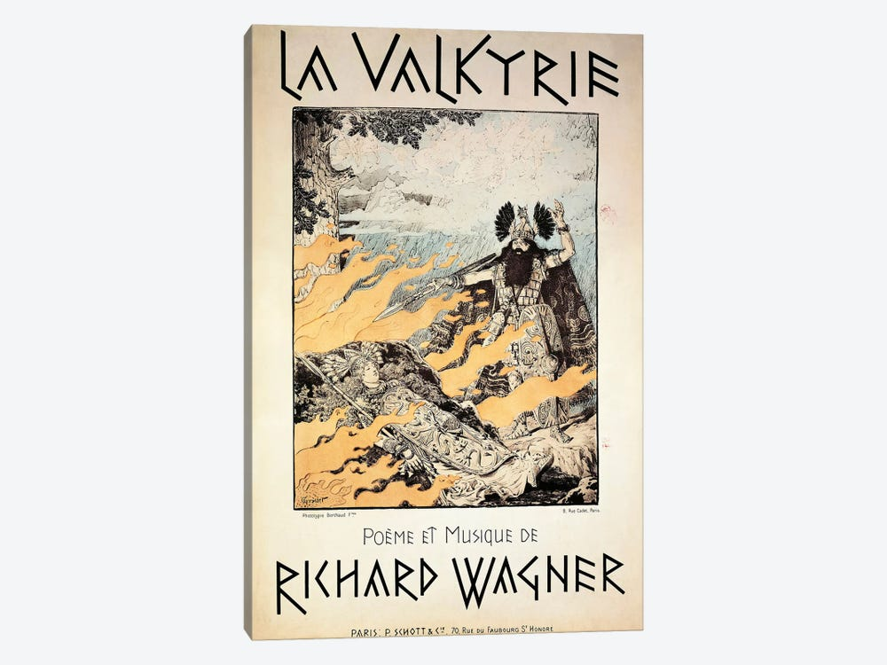 France, Paris, Poster of The Valkyrie by Richard Wagner by Unknown Artist 1-piece Canvas Artwork