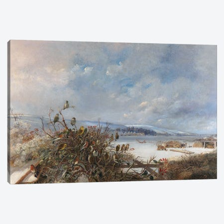 Birds of a Feather  Canvas Print #BMN4076} by Charles Henry Clifford Baldwyn Canvas Art