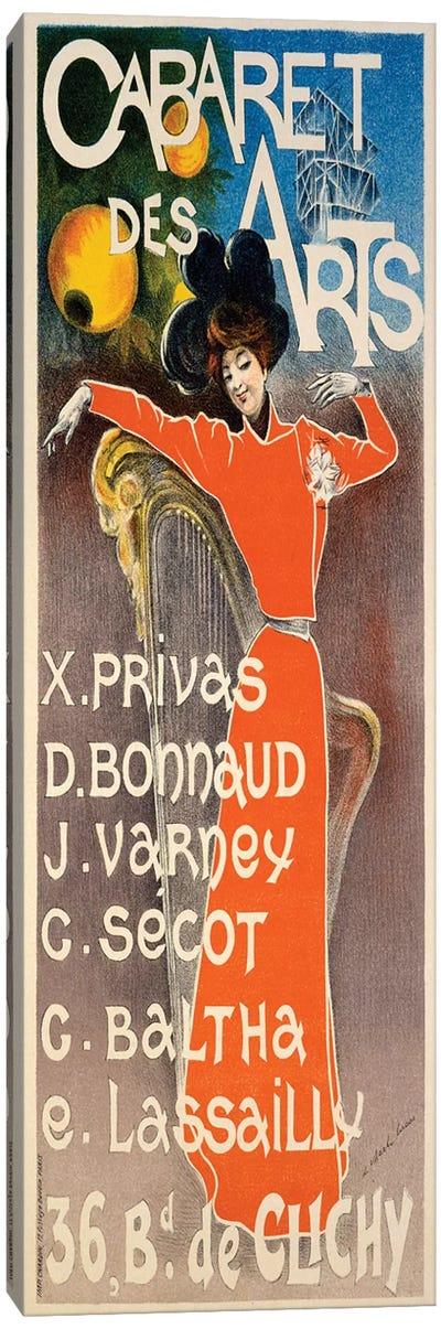 Poster for 'Cabaret Des Arts', c.1900  Canvas Art Print
