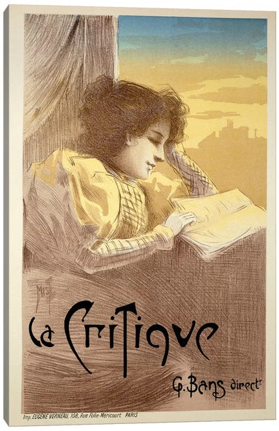 Poster Advertising 'La Critique', late 19th century  Canvas Art Print
