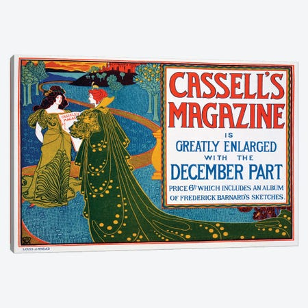 Advertisement for 'Cassell's Magazine', 1896  Canvas Print #BMN4088} by Louis John Rhead Canvas Artwork