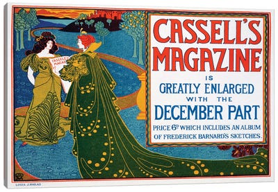 Advertisement for 'Cassell's Magazine', 1896  Canvas Art Print