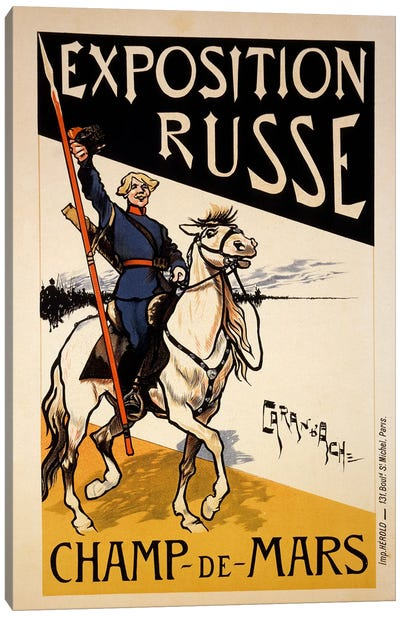 Poster for a Russian Exhibition in the Champs de Mars, Paris, c.1910  Canvas Art Print