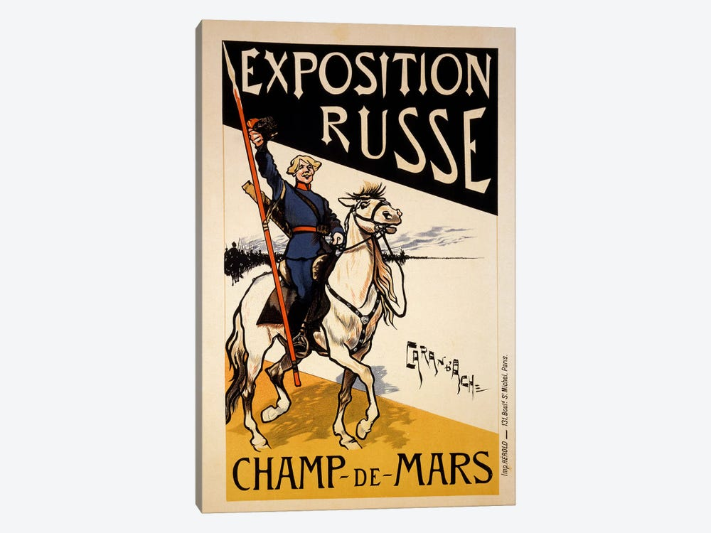 Poster for a Russian Exhibition in the Champs de Mars, Paris, c.1910  1-piece Canvas Wall Art
