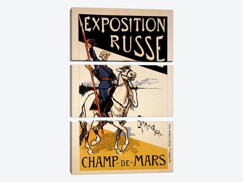 Poster for a Russian Exhibition in the Champs de Mars, Paris, c.1910  by Emmanuel Poire Caran D'Ache 3-piece Canvas Artwork