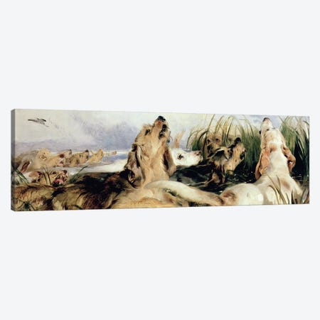 Otter Hounds Canvas Print #BMN408} by Sir Edwin Landseer Canvas Artwork