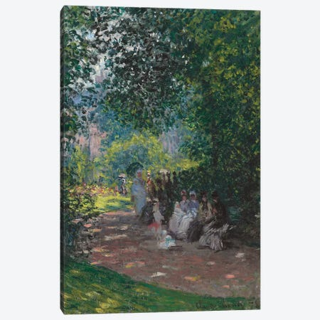 In the Park Monceau, 1878  Canvas Print #BMN4097} by Claude Monet Canvas Wall Art