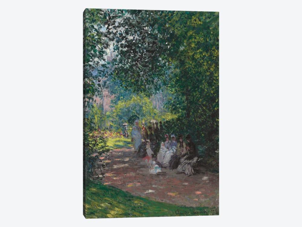 In the Park Monceau, 1878  by Claude Monet 1-piece Canvas Print