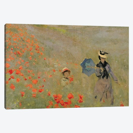 Wild Poppies, near Argenteuil  Canvas Print #BMN4103} by Claude Monet Canvas Print