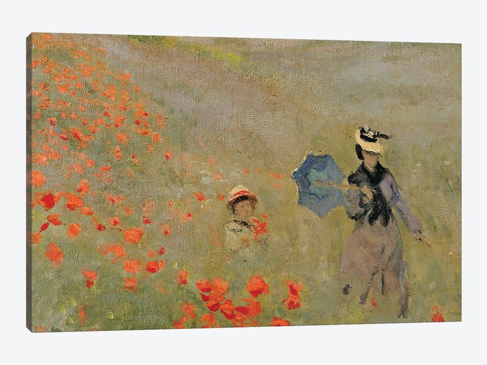 Wild Poppies, near Argenteuil  by Claude Monet 1-piece Canvas Art Print