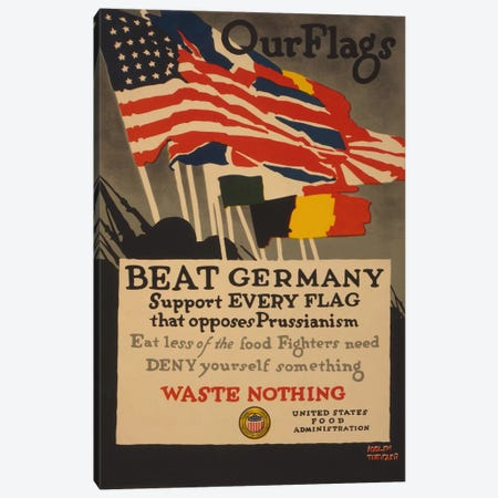Beat Germany  Canvas Print #BMN4104} by Adolph Treidler Canvas Artwork