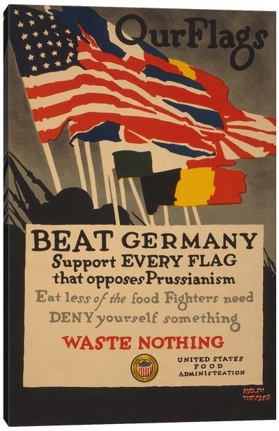 Beat Germany Canvas Art Print